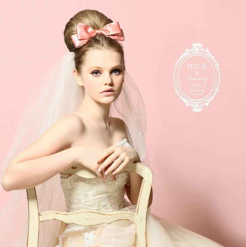 銀座・柏・直方の結婚指輪Milk & Strawberry(ミルク&ストロベリー)_02