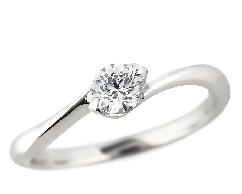 S字婚約指輪