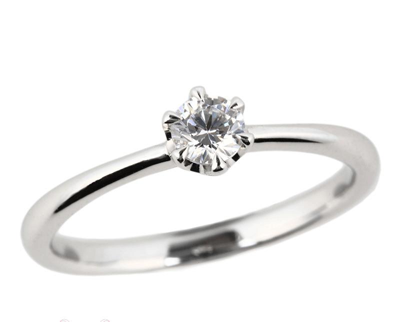 ストレート婚約指輪