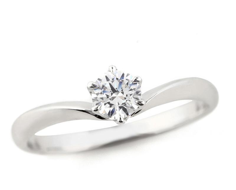 V字婚約指輪