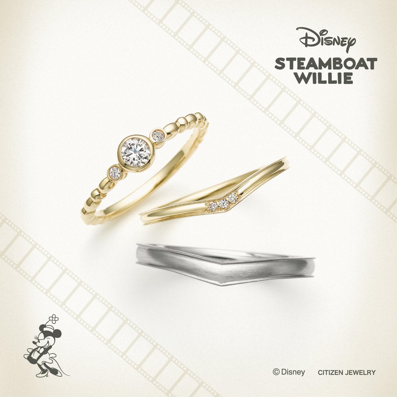 銀座・柏・直方の結婚指輪Disney STEAMBOAT WILLIE(ディズニースチームボートウィリー)_02